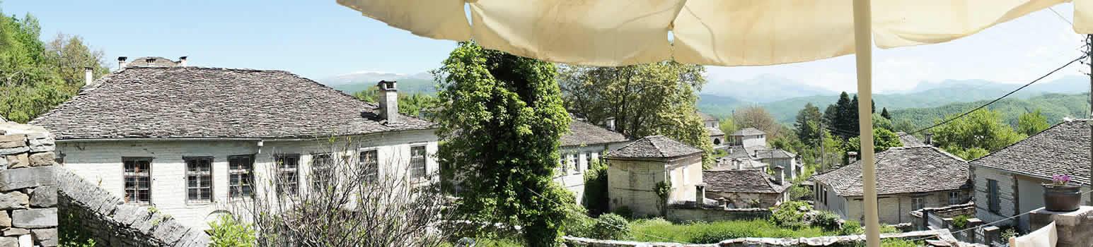 Πανοραμική φωτογραφία τού καφέ-εστιατορίου Λίθος στο Δίλοφο